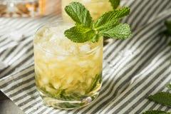 Homemade Derby Mint Julep. With Kentucky Bourbon stock image