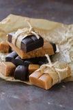 Homemade dessert candy caramel toffee Stock Photo