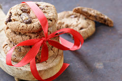 Homemade desserts  cookies with chocolate chips Stock Photography