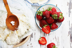 Homemade desserts, top view Stock Photo