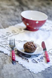 Homemade diet bread on white plate Stock Images