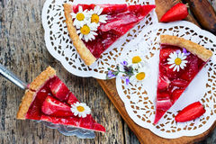 Homemade Dietary Strawberry Cake Stock Images