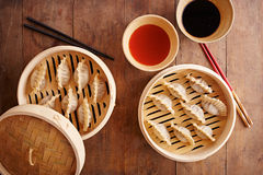 Homemade dim-sum asian dumplings Royalty Free Stock Photo