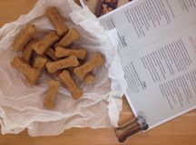 Homemade Dog Biscuits Stock Images