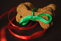 Homemade dog bones shaped cookies. Stock Photos