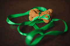 Homemade dog bones shaped cookies. stock photography