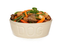 Homemade Dog Food Beef Stew Royalty Free Stock Images