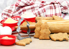 Homemade Dogs Biscuits Shaped Like Fire Hydrants Royalty Free Stock Photos