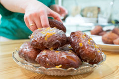 Homemade donuts. Royalty Free Stock Images