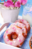 Homemade donuts and milk Stock Photography