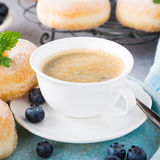 Homemade donuts with sugar Royalty Free Stock Photos