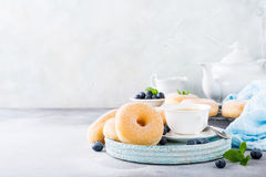 Homemade donuts with sugar Stock Photo