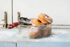 Homemade donuts with sugar powder Stock Photography