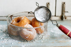 Homemade donuts with sugar powder Stock Image
