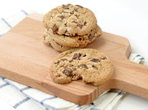 Homemade Double Chocolate Chip Cookies Stock Photo