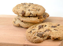 Homemade Double Chocolate Chip Cookies Stock Image
