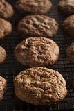 Homemade Double Chocolate Chip Cookies Stock Photography