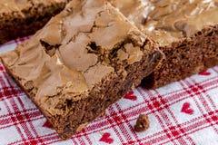 Homemade Double Chocolate Chunk Brownies Royalty Free Stock Photo