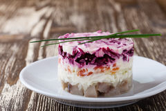 Homemade dressed pickled herring Royalty Free Stock Photography