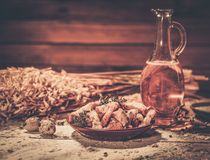 Homemade dried crusts Stock Images