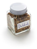 Homemade dukkah in a jar, egyptian condiment Royalty Free Stock Photography