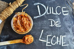 Homemade Dulce de Leche Photos stock