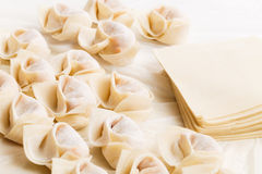 Homemade dumpling Stock Photos