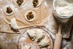 Homemade dumplings made ​​in the traditional way Royalty Free Stock Image