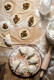 Homemade dumplings made ​​in the traditional way Royalty Free Stock Photos