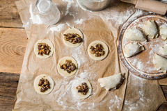 Homemade dumplings made ​​in the traditional way Royalty Free Stock Photography