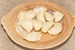 Homemade dumplings with meat Royalty Free Stock Image