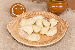 Homemade dumplings with meat Stock Image