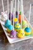 Homemade Easter cake pops Royalty Free Stock Photography