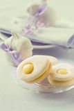 Homemade easter cookies and funny easter bunny Stock Image