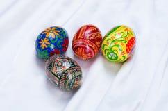 Homemade easter eggs. The photo shows homemade easter eggs Stock Photos