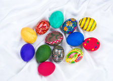 Homemade easter eggs Royalty Free Stock Photo