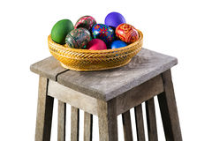 Homemade easter eggs Stock Photography