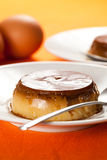 Homemade egg flan with caramel Royalty Free Stock Photography