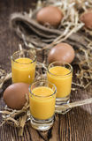 Homemade Egg Liqueur Stock Images