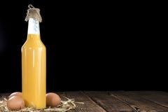 Homemade Egg Liqueur Royalty Free Stock Photos