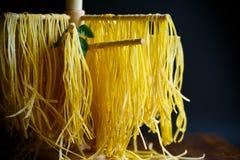 Homemade egg noodles Royalty Free Stock Photos