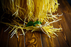 Homemade egg noodles Stock Photography