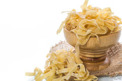 Homemade egg noodles Stock Image