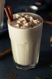 Homemade Eggnog Ice Cream Milkshake Stock Photography