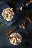 Homemade Eggnog Ice Cream Milkshake Stock Image