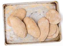 Homemade Egyptian pita bread from above Royalty Free Stock Photo