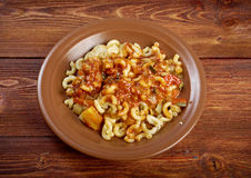 Homemade elbow macaroni pasta Stock Photo