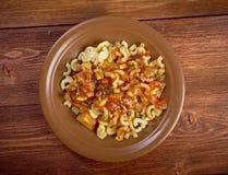 Homemade elbow macaroni pasta Stock Photos
