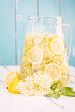 Homemade elderflower syrup. Stock Image