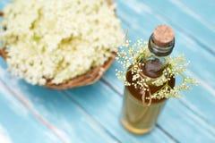 Homemade elderflower syrup Stock Images